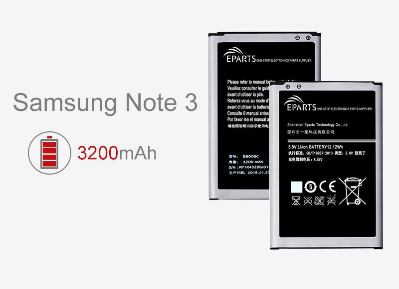 remplacement de batterie Samsung Note 3 de haute qualité