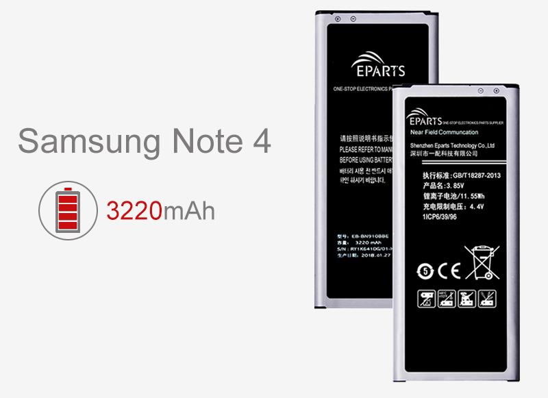 Samsung Note 4 batterie à vendre en gros fournisseur