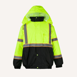 1704 Cotton-padded Waterproof Jacket Waterproof Raincoat