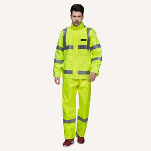 6915 Waterproof Workwear Suit Raincoat For Men