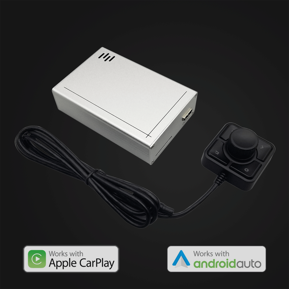 Universal CarPlay/Android Auto adapter with HDMI and RCA AV output for any car monitor