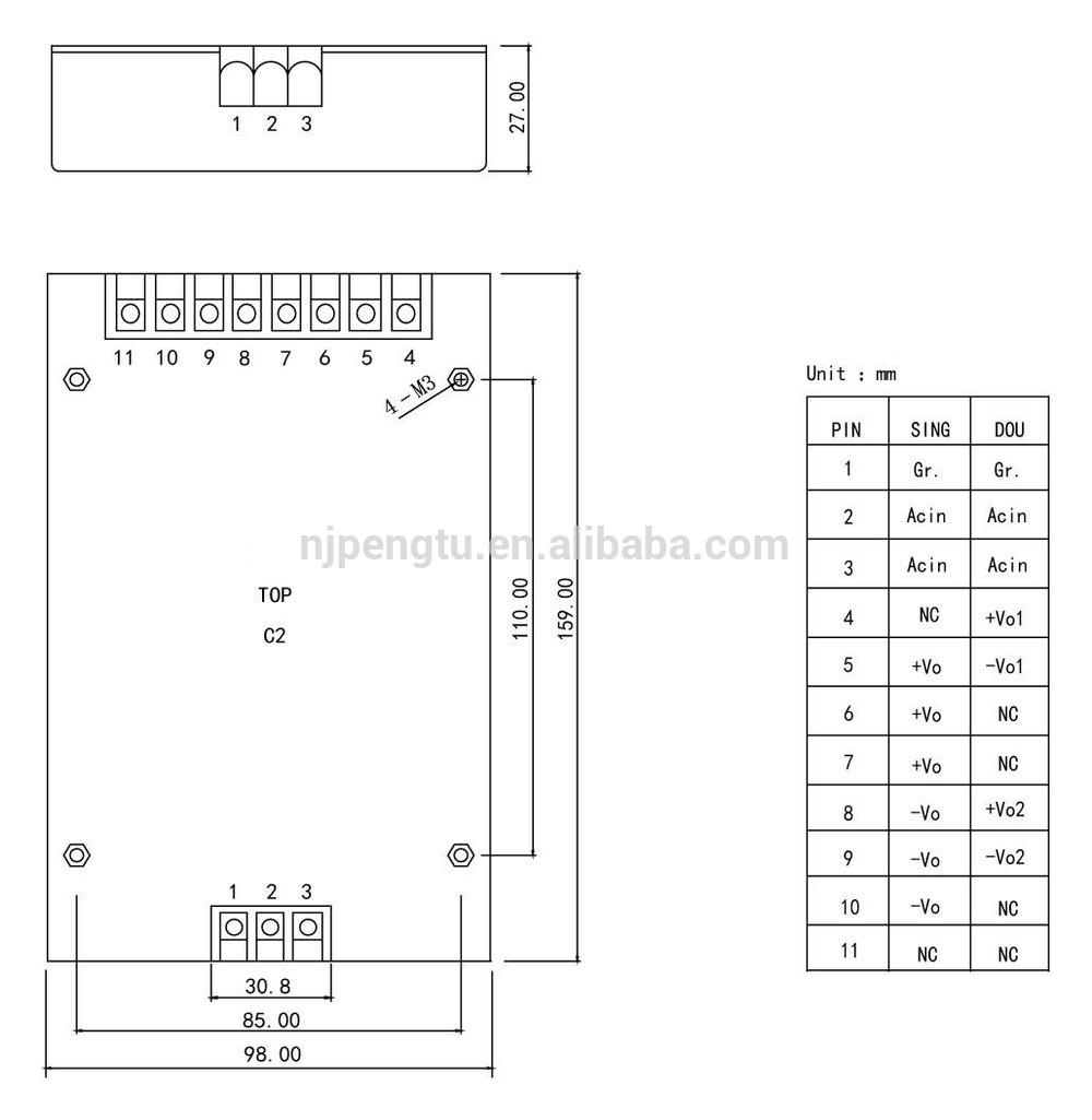 PAB-C2 Series 150-300W ac dc module