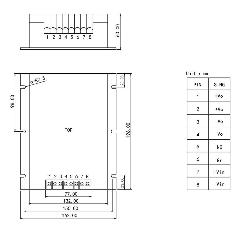 PDB-F Series 100-300W 600v to 24v dc power converter