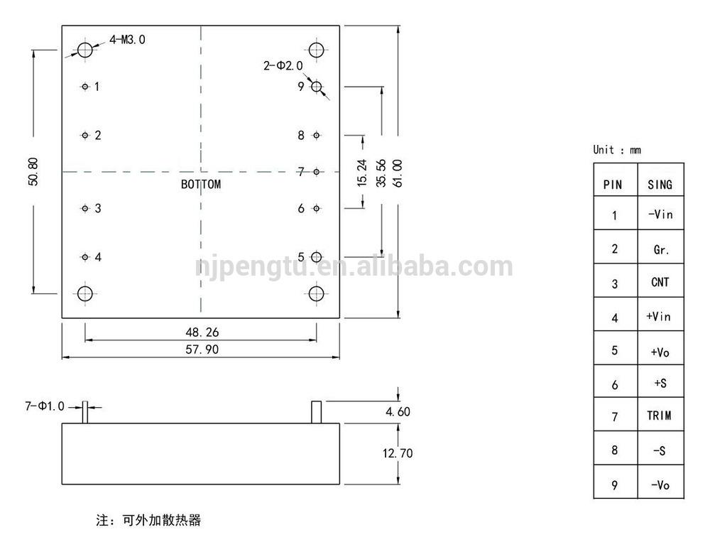 PDH Series 50-200W dc-dc converter