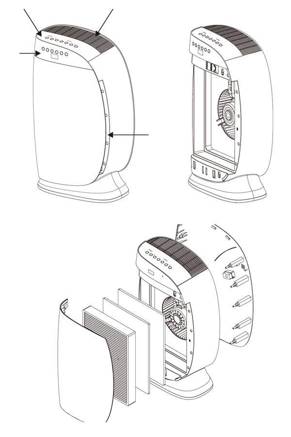 Haushalt tragbaren Luftreiniger H7