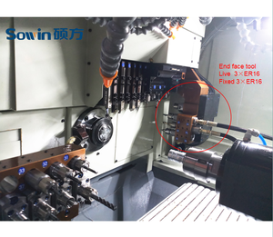 Customized CNC Swiss type lathe SZ-206E3, Customized CNC Swiss type lathe