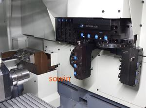 citizen swiss-type lathe machining with front eccentric tool post