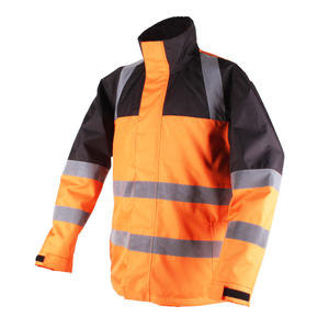 Soft Fleece Liner Windproof Safety Hi Vis Heated Workwear Jacket For Night Working