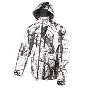 Snowy Ground Windbreak White Camouflage Hunting Heated Jacket For Winter