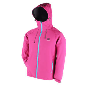 Warm Fleece Windbreak Hi Vis Womens Heated Jacket For Climbing Mountaineering