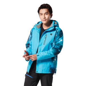 USB Temperature Controlled Windproof Heated Electric Jacket For Skiing