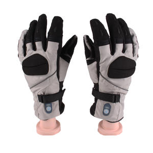 Black Polyester 7.4V 1500mAh Rechargeable Heated Gloves for Ice Hockey