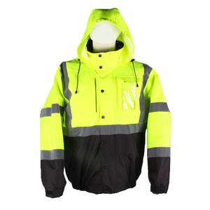 High Visibility Safe Windbreaker Water Resistant Heated Laborer Jacket