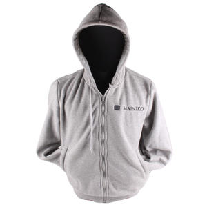 Gray Oversize Street Wear Heated Hoodie Jacket Unisex Sportwear