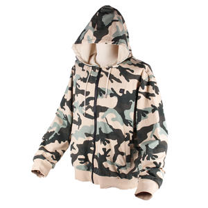 Camo Pattern Oversize Pullover USB Battery Camouflage Clothing Heated Hoodies