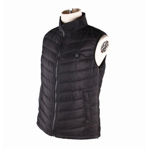 Customized Pattern USB Men Heated Vest With Carbon Fiber Heating System