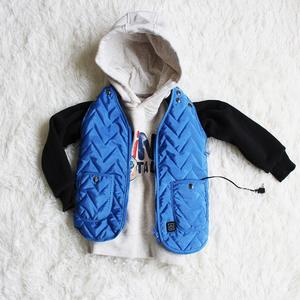 Wave Pattern Kids Heated Vest For Teenagers Children