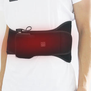 Vibration Massage Battery Heating Waist Belt Lower Back Support Pad
