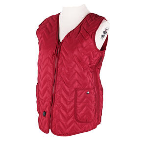 MAINIKO Classical Type V-neck Wavy Design Womens Battery Heated Vest