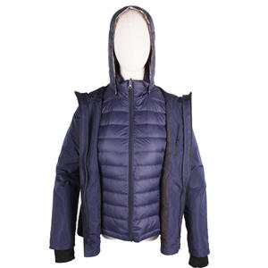 2-in-1 Goose Down Heated Coat For Female