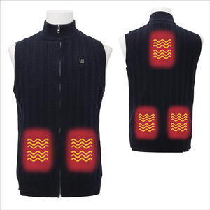 5V 7.4V Crewneck Fleece Cashmere Knit Battery Powered Sweater Heated Vest