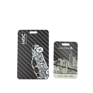 High quality Custom OEM Carbon fiber luggage tag  manufacturer