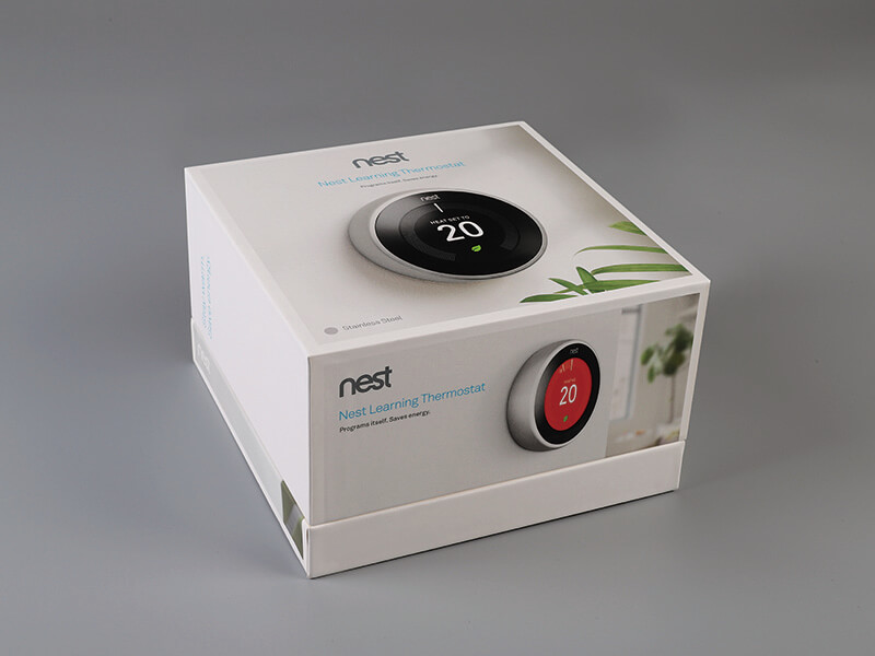 Nest Learning Thermostat Box with lid and base