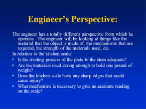 Engineer's Perspective
