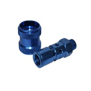 CNC Machining Parts with Blue Anodizing