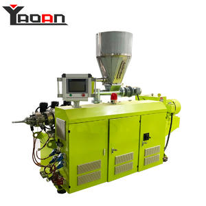 Wire conduct PVC corrugated pipe machine