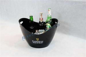 PS material ice bucket chiller with custom printed
