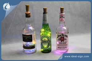Bottle Plug With Various LED Colors For Decoration And Lighted Up Wine Glass Bottles