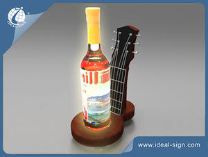 Resin Led Bottle Presenter For Displaying And Advertising The Wine And Liquor Brands