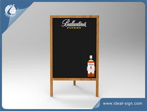Ballantines Sidewalk Advertising Boards With Wooden Frame For Displaying