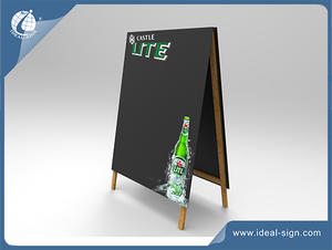 Customized wholesale A frame marketing chalkboard wooden plastic sidewalk signs