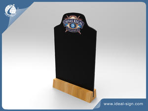 Wooden table top mini chalkboard table tents with custom design