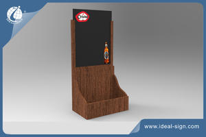 Supplier for wooden table top menu holder Chalkboard Menu with custom design