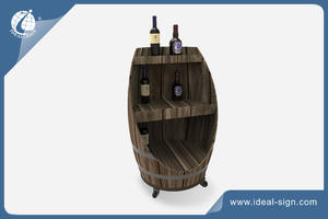 Barrel Shape Wooden Wine Racks For Displaying Or Storing
