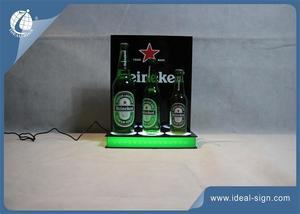 Custom lighted bar bottle display for advertising led beer liquor bottle glorifier for wholesale