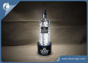 VODKA Acrylic LED Lighted Liquor Bottle Display Shelf In Bar Advertisement