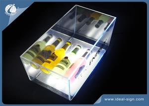 Acrylic LED Illuminated Ice Bucket Rectangular For Party 405*210*210Hmm
