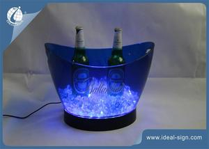China supplier of illuminated plastic beer buckets champagne cooler