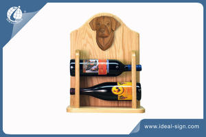 Wholesale Custom made wooden bottle base liquor bottle display shelf for display the brand