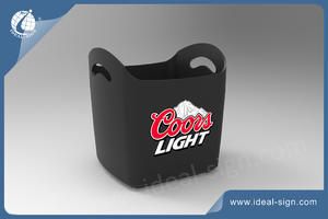 wholesale Custom plastic injection beer beverage tubs wine ice buckets for brand solution wholesaler