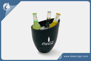 Personalized PS PP plastic beer ice buckets LED bar ice tubes for wholesale