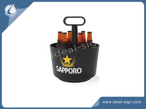 PP PS Plastic Injected Ice Bucket With Centered Handle