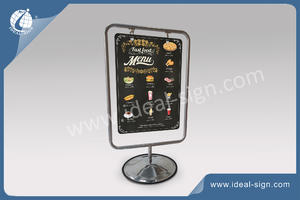 Outdoor Metal Frame Sidewalk Sign With Double Sides