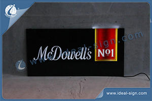 Custom illuminated shop signs led slim bar signs distributor