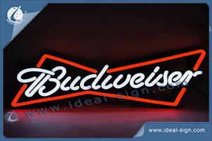 Custom neon light signs led neon sign wholesale Budweiser beer signs