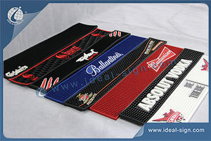 Customized PVC / Rubber Bar Mats For Different Beverage Brand